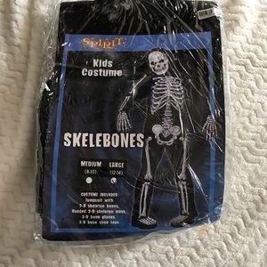 Boys skelebones skeleton costume large new